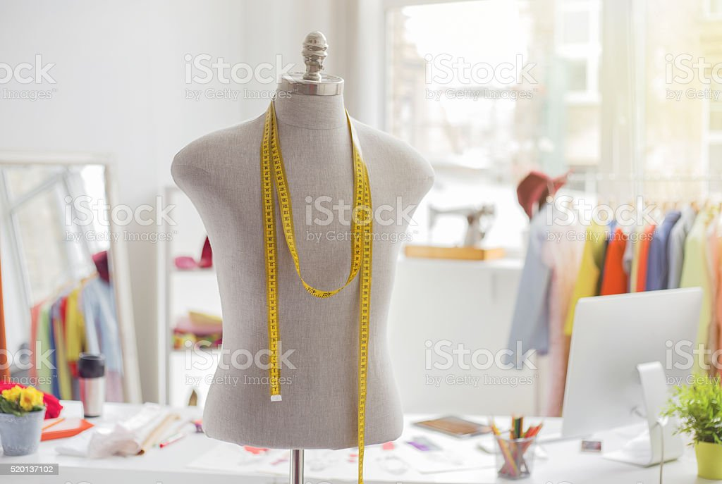 Tailors office stock photo