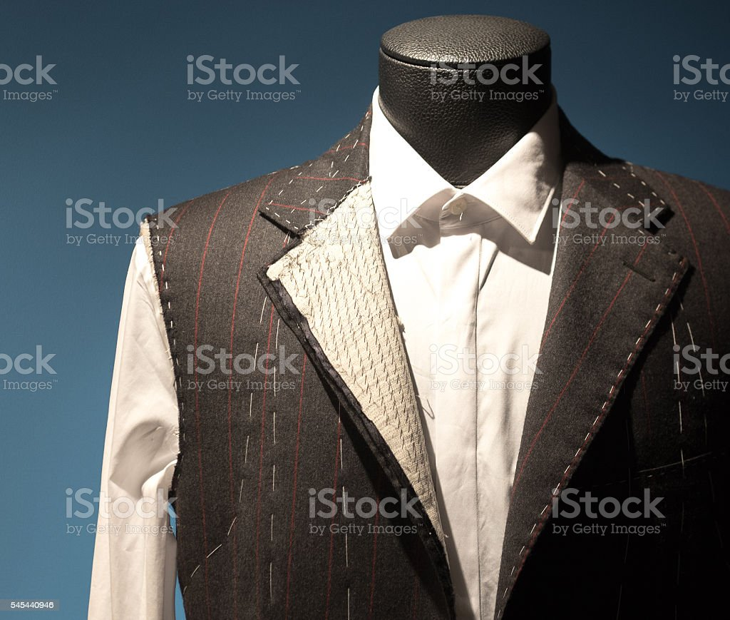 Tailors Suit on Dummy stock photo