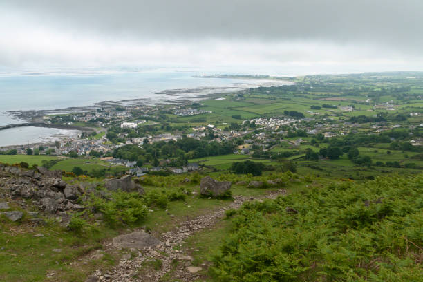 Tain Way Descent into Carlingford stock photo