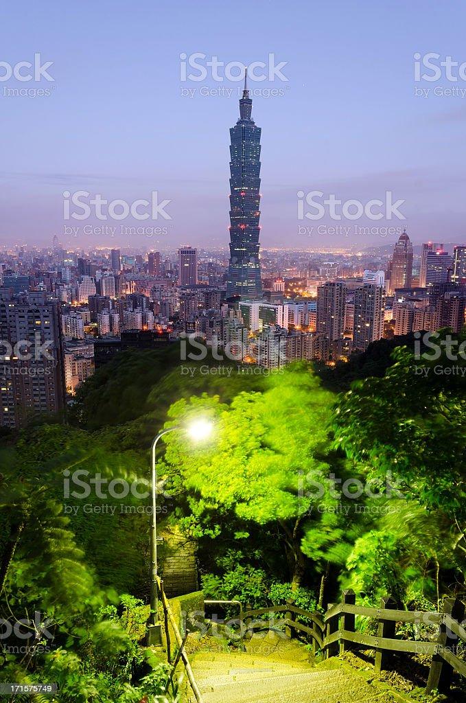 Taipei city night royalty-free stock photo