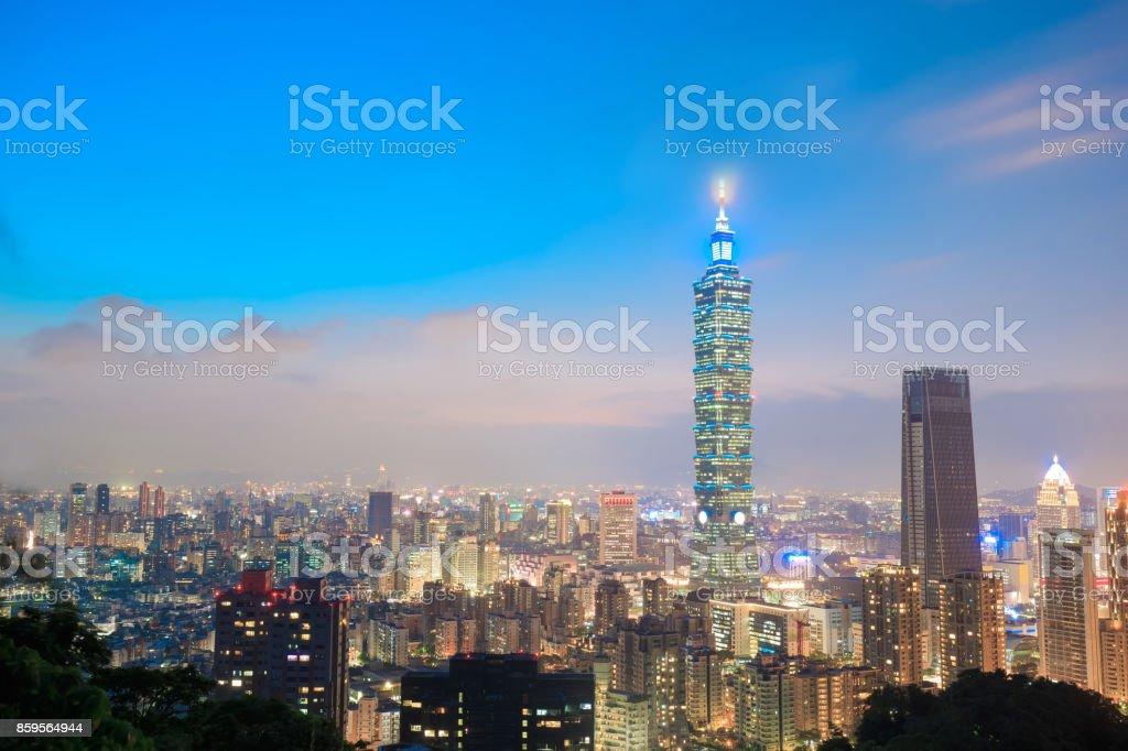taipei city panorama stock photo
