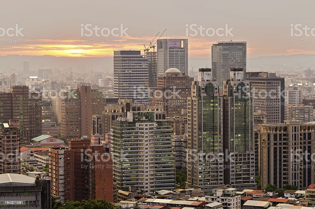 Taipei city skyline royalty-free stock photo