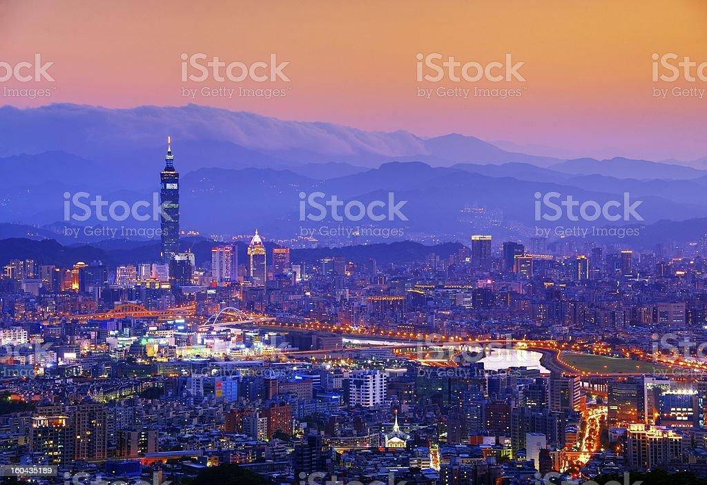 Taipei Cityscape royalty-free stock photo
