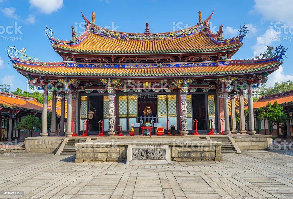 Taipei Confucius Temple in Taipei, Taiwan. Constructed in1879 stock photo