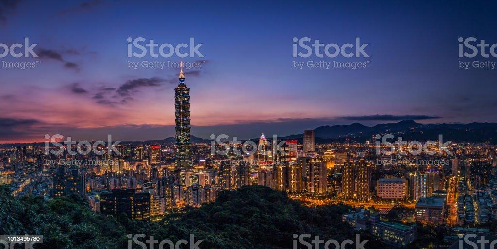 Taipei Taipei at night. Adventure Stock Photo