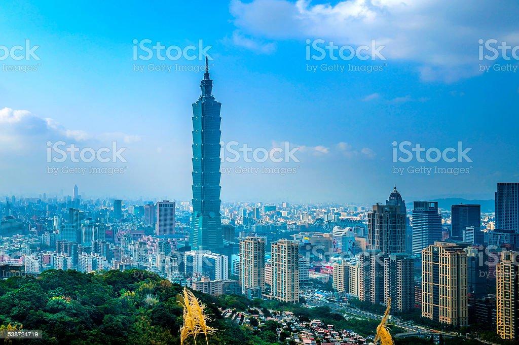 Taipei Skyline - Stock Image stock photo