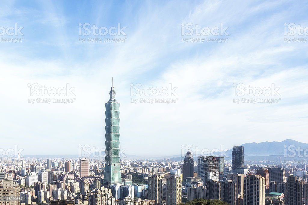 Taipei Skyline, Taiwan stock photo
