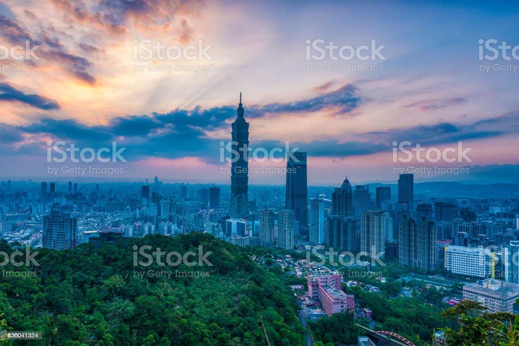Taiwan City Skyline