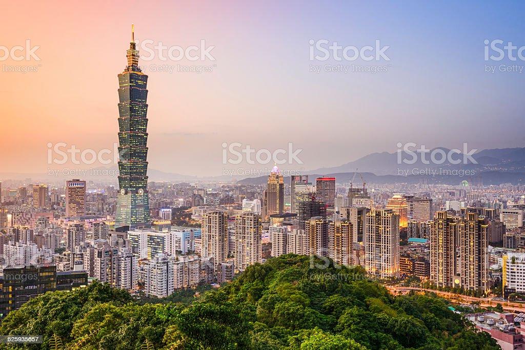 Taipei, Taiwan City Skyline stock photo