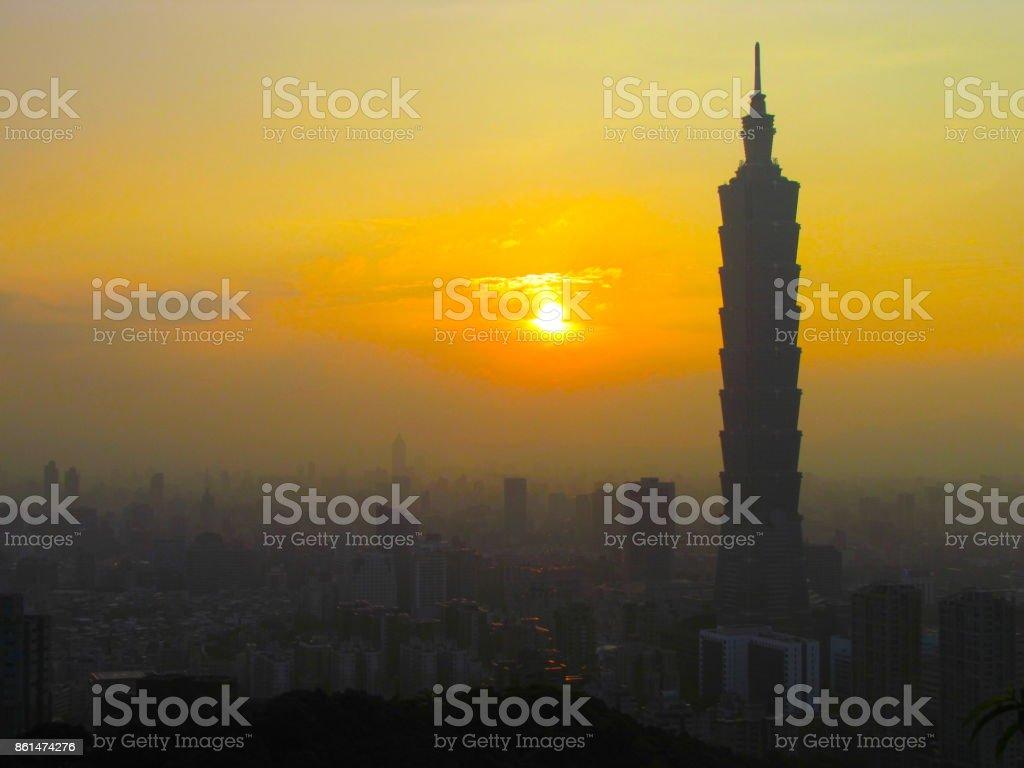 Taipei Taiwan cityscape stock photo