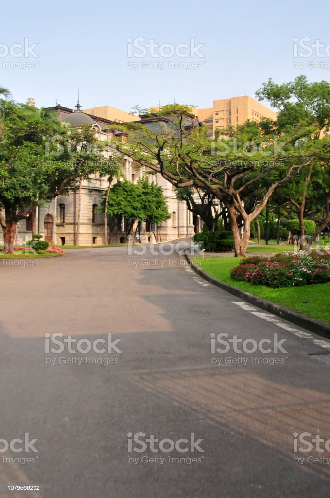 Ministry of Foreign Affairs Taipei Guest House, seen from the gardens...