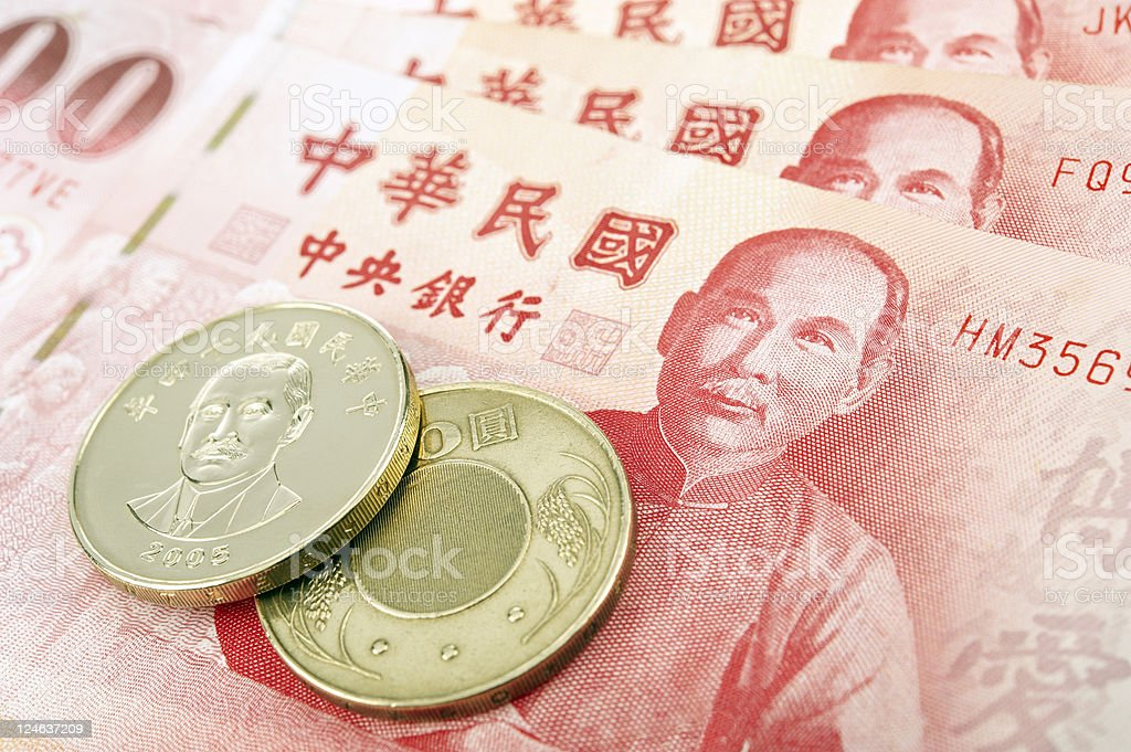 Taiwan Banknotes and Coins royalty-free stock photo