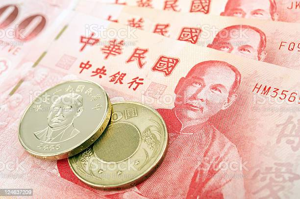 Taiwan Banknotes And Coins Stock Photo - Download Image Now