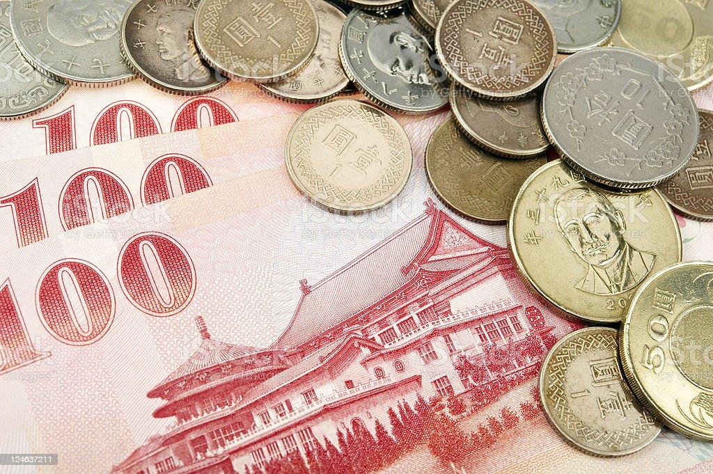 Taiwan Banknotes and Coins royalty-free stock photo