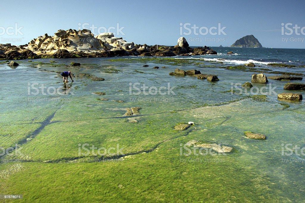 Taiwan plage et de formation rocheuse photo libre de droits
