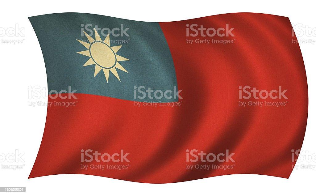 Taiwan Flag royalty-free stock photo