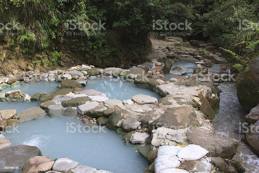 Taiwan hot springs stock photo