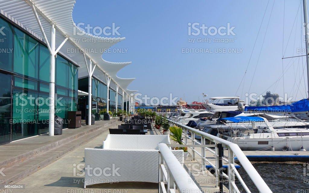 Taiwan Yacht Harbor and Restaurant stock photo