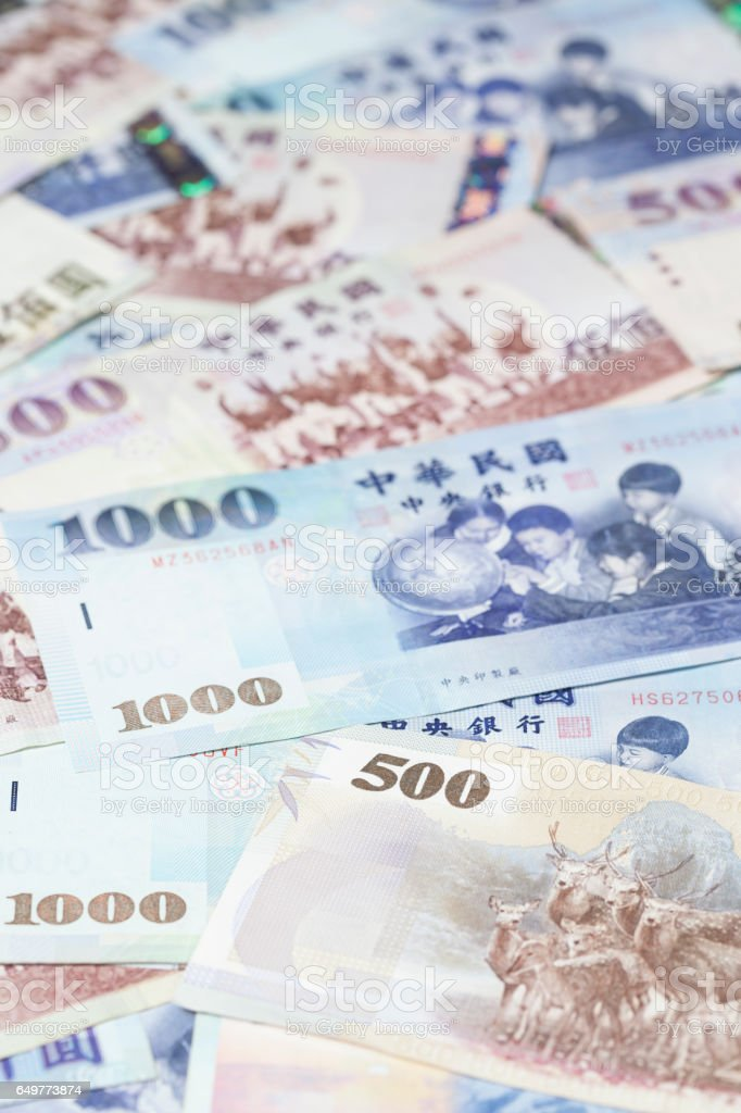 Taiwanese Currency New Taiwan Dollar (NTD) stock photo