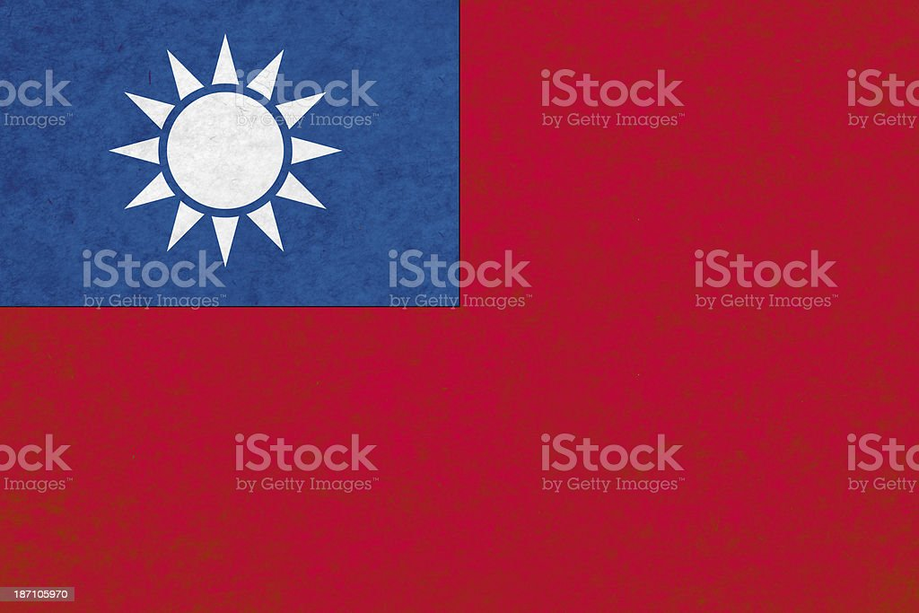 Taiwanese flag royalty-free stock photo