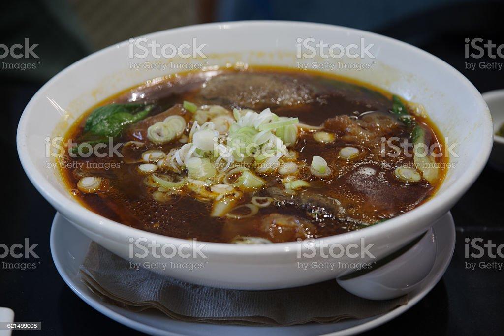 Taiwanese style beef noodle Lizenzfreies stock-foto