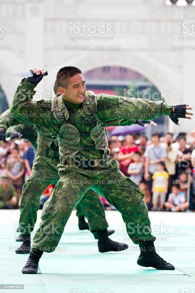 Taiwan's principal special operations force display royalty-free stock photo