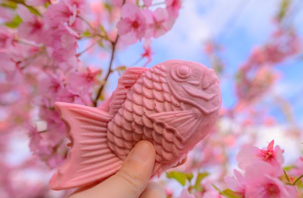 Taiyaki Pink Fish Sweet Dessert – Foto