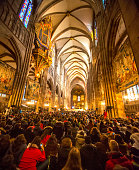 Taize prayer in Notre Damme de Strasbourg, France