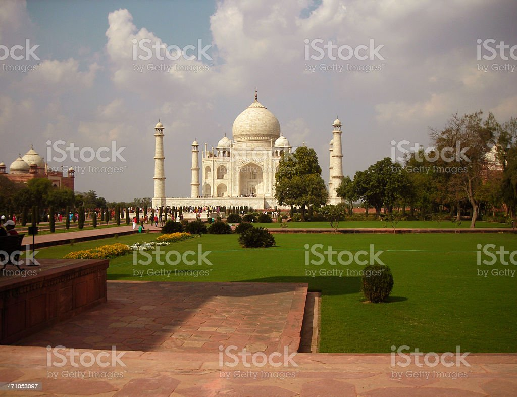 Taj Mahal Agra India Monument to Love stock photo