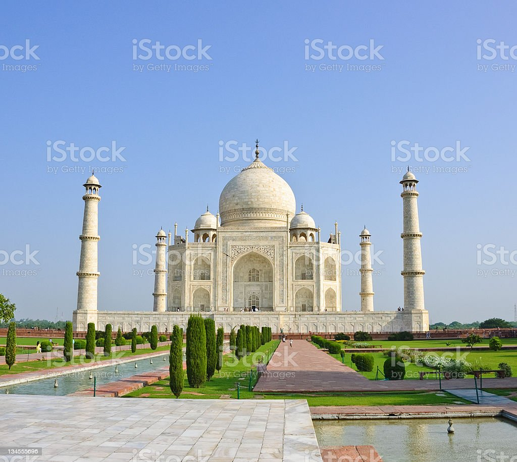 Taj Mahal and garden in front, India royalty-free stock photo