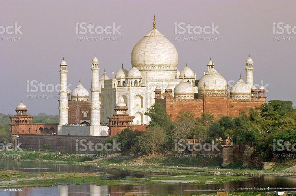 Taj Mahal At Sunset royalty-free stock photo
