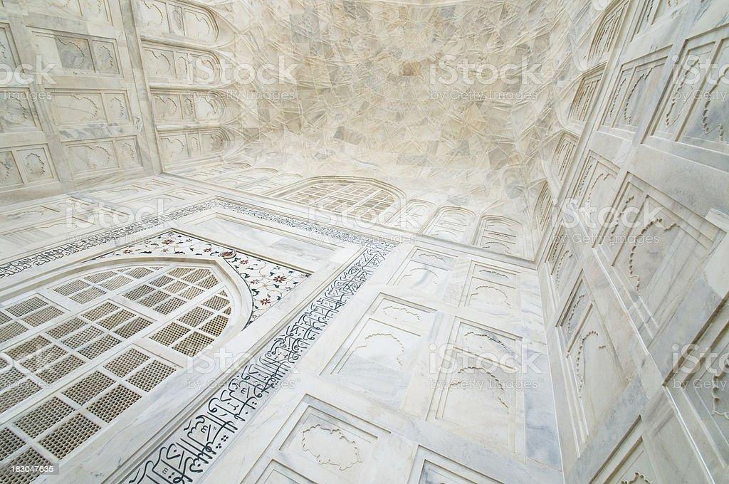 Taj Mahal ceiling detail royalty-free stock photo