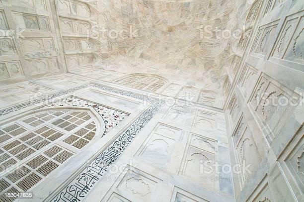 Taj Mahal Ceiling Detail Stock Photo - Download Image Now
