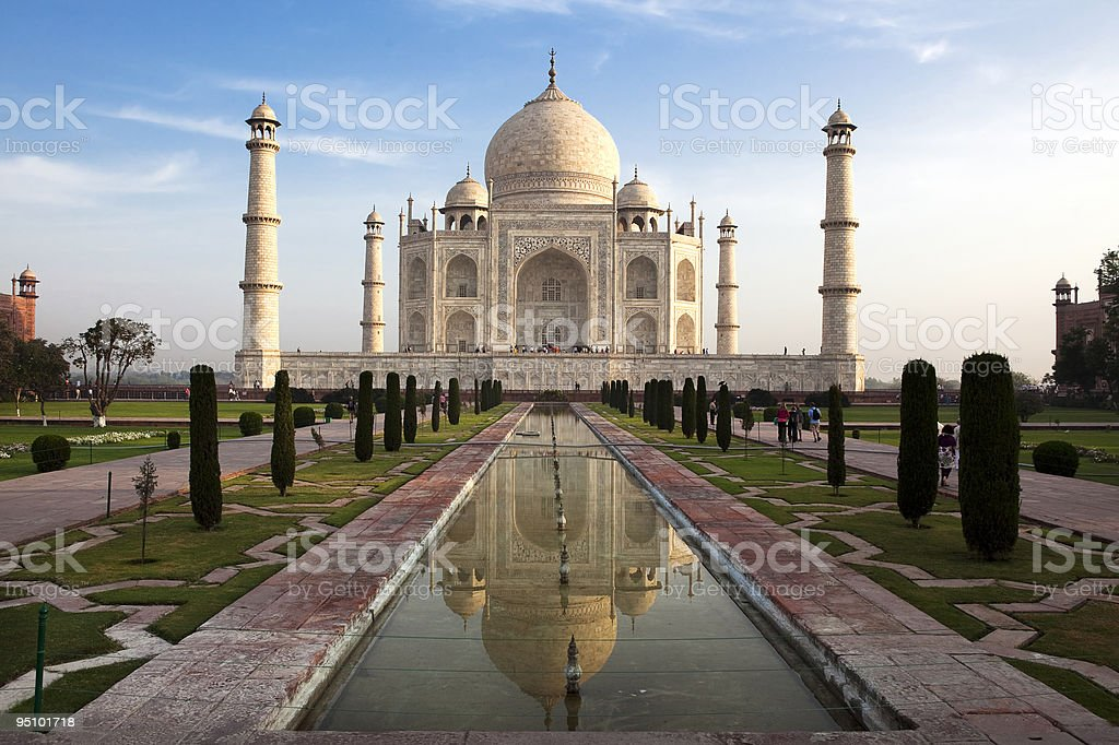 Taj Mahal in agra india stock photo