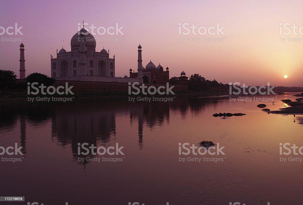 Taj Mahal in Agra royalty-free stock photo