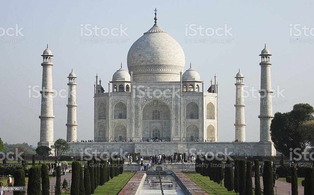 taj Mahal in India stock photo
