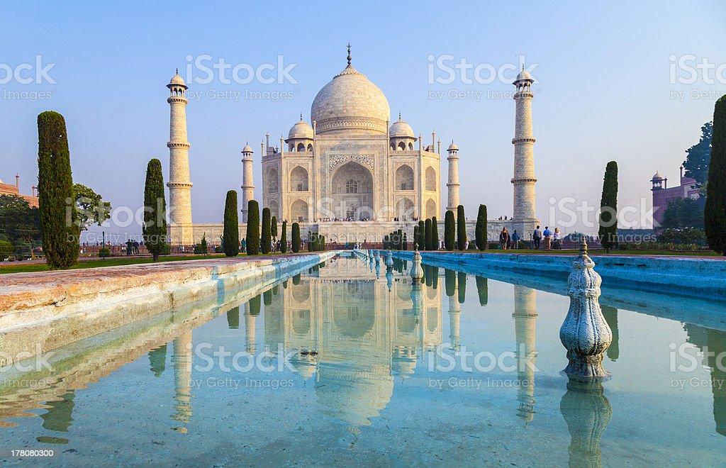Taj Mahal in sunrise light, Agra, India - Royalty-free Agra Stock Photo