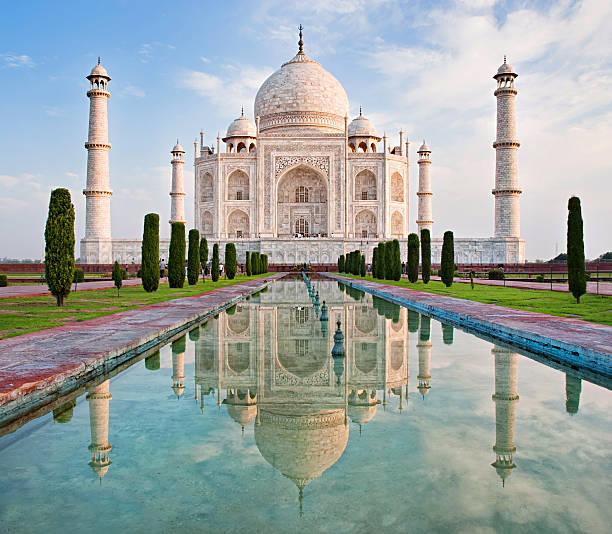 Taj Mahal in sunrise light., Agra, India Taj Mahal in sunrise light, Agra, India taj mahal stock pictures, royalty-free photos & images