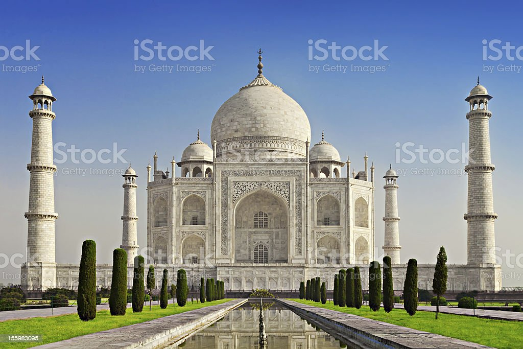 Taj Mahal in sunrise light royalty-free stock photo