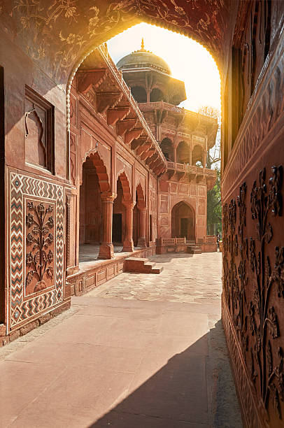 Taj Mahal India, Agra. 7 world wonders. Beautiful Tajmahal trave stock photo