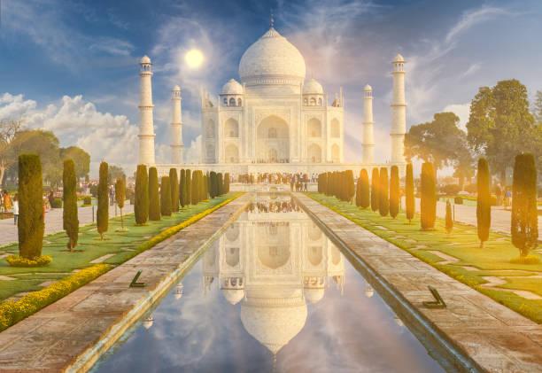 Cтоковое фото Taj Mahal India, Agra. 7 world wonders. Beautiful Tajmahal trave