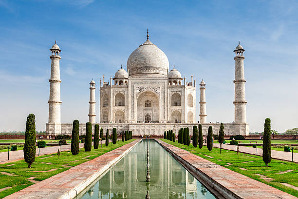 Taj Mahal, India Taj Mahal, India taj mahal stock pictures, royalty-free photos & images