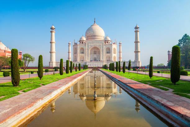 Taj Mahal marble mausoleum, Agra stock photo