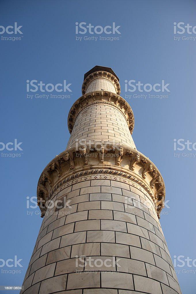 Taj Mahal - Minaret royalty-free stock photo