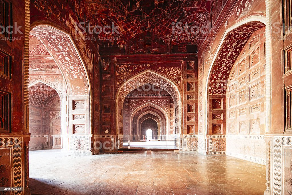 Taj Mahal Mosque India stock photo