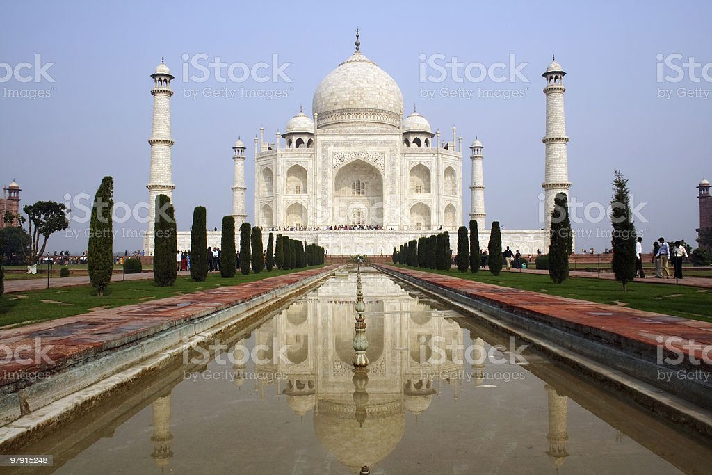 Taj Mahal (Crown Palace) royalty-free stock photo