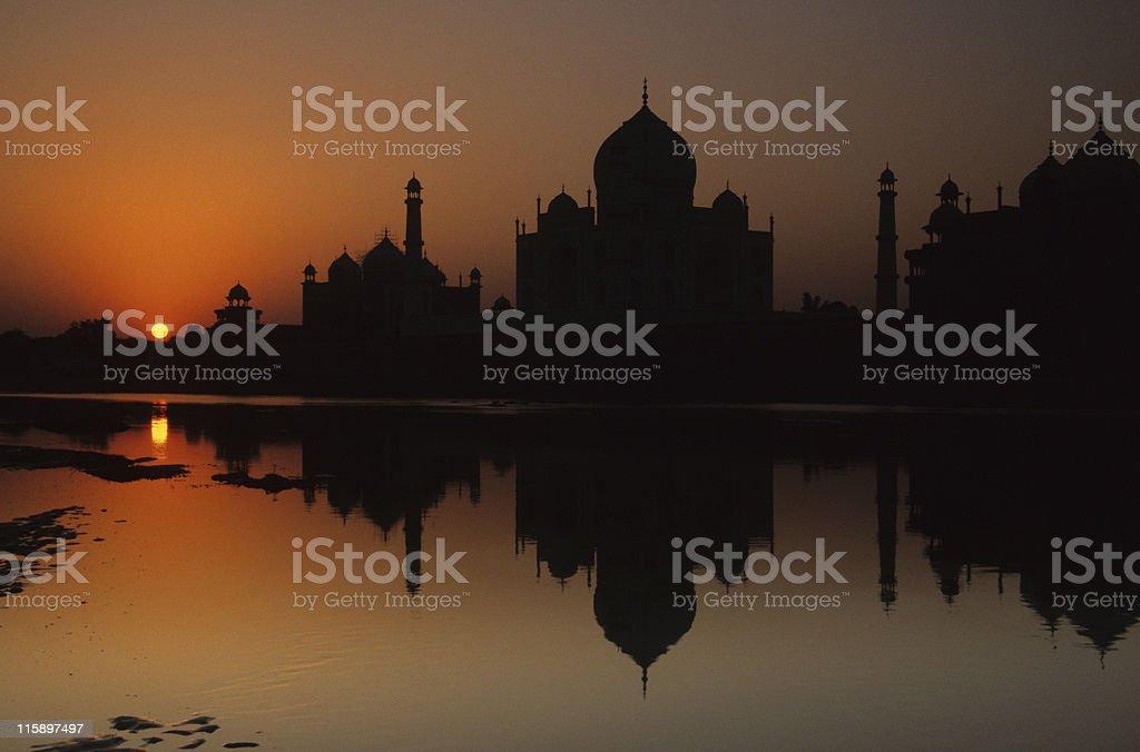 Taj Mahal reflection, Agra, India royalty-free stock photo