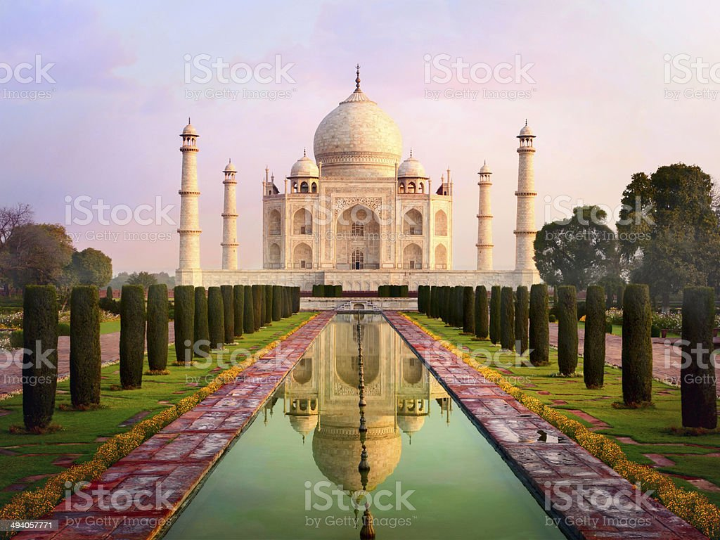 Taj Mahal spectacular early morning view royalty-free stock photo