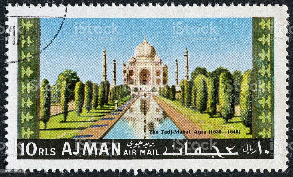 Taj Mahal Stamp - Lizenzfrei Briefmarke Stock-Foto