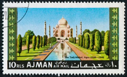 Taj Mahal Stamp Stockfoto und mehr Bilder von Agra